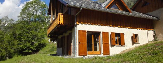 [Chalet Solflo – Le Biquet]facade coté biquet